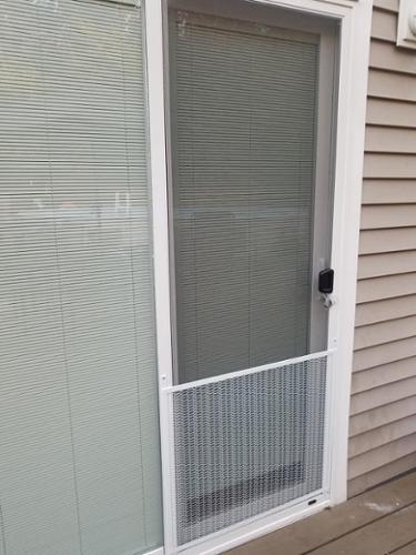 This customer has pets and children. This guard helps keep them both from damaging the screen door.